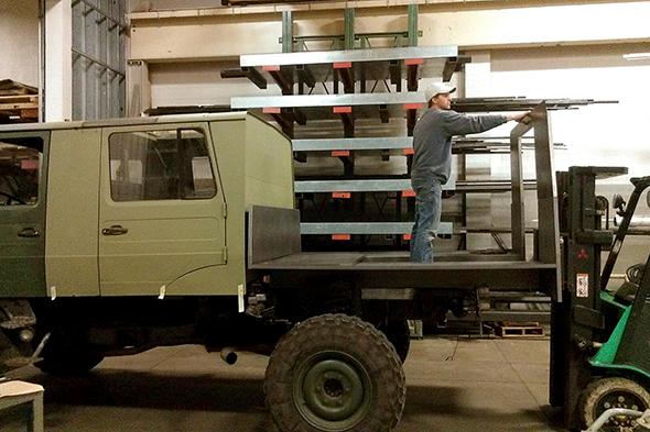 Vox service truck, unimog