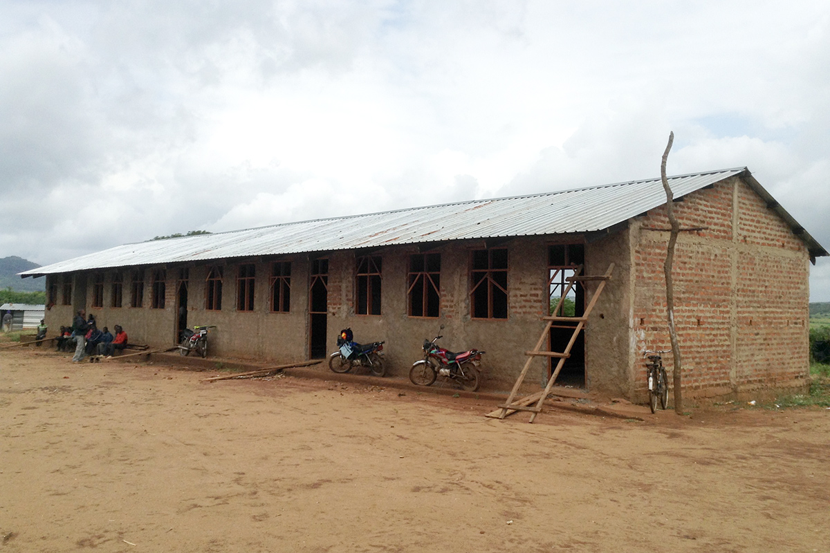 Nhandemba School currently under construction; slated for completion next month.