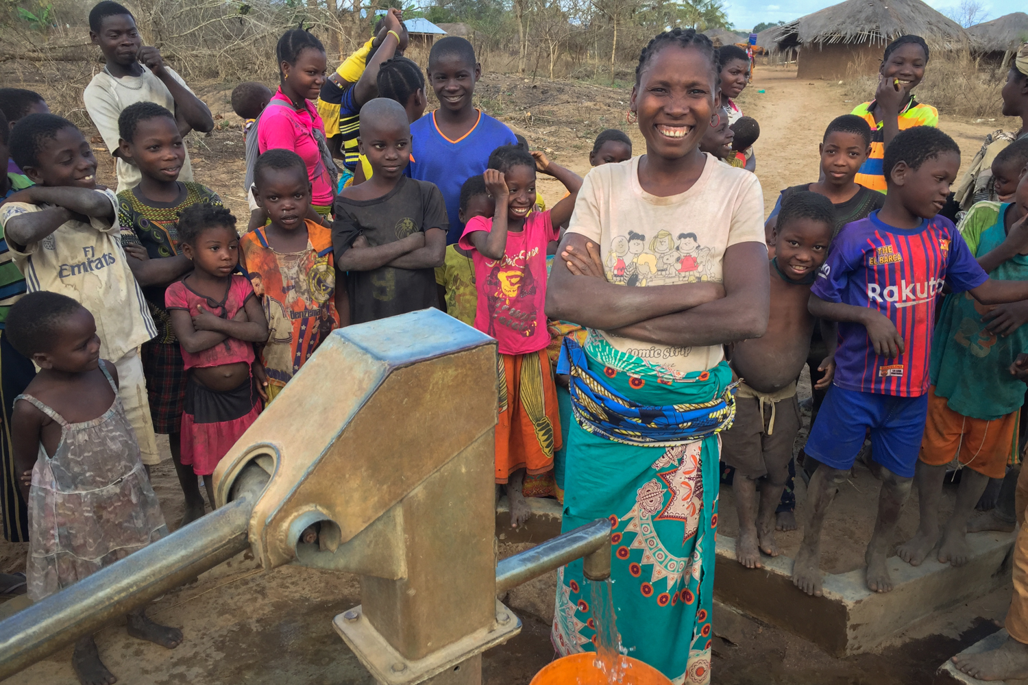 Mozambique well restoration, Cabo Delgado, Meluco District, Ravia Community